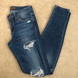 Joes Jeans Icon Skinny mid rise distressed jeans